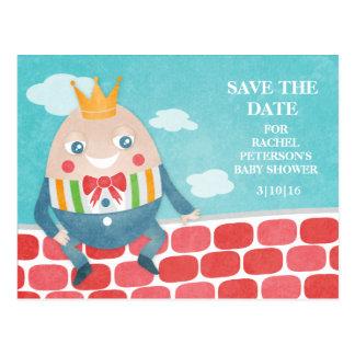 Reserva colorida de la fiesta de bienvenida al beb tarjetas postales