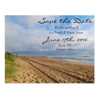 Reserva con playas brillante la fecha postales