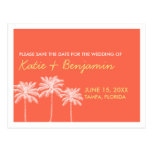 Reserva coralina de la moda del boda del verano de tarjeta postal