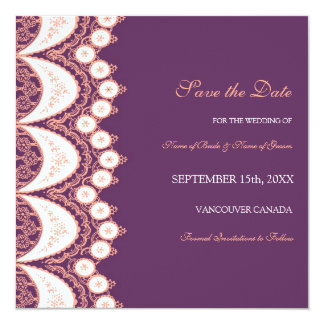 Reserva coralina del boda del ciruelo la tarjeta invitación 13,3 cm x 13,3cm