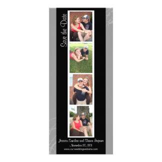 Reserva creativa de la cabina de la foto la fecha comunicado personalizado