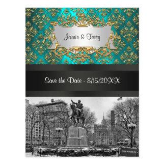 Reserva cuadrada del damasco 223 del oro de la uni postales