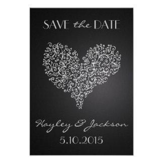 reserva cuadrada gris del boda la tarjeta de fecha comunicados personales
