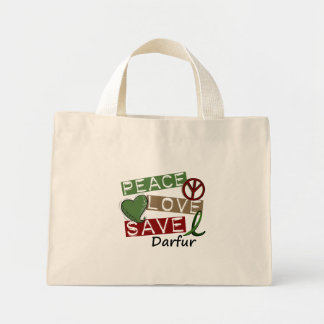 RESERVA Darfur del AMOR de la PAZ Bolsa De Mano
