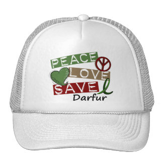 RESERVA Darfur del AMOR de la PAZ Gorras De Camionero