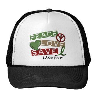 RESERVA Darfur del AMOR de la PAZ Gorros