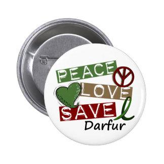 RESERVA Darfur del AMOR de la PAZ Pin