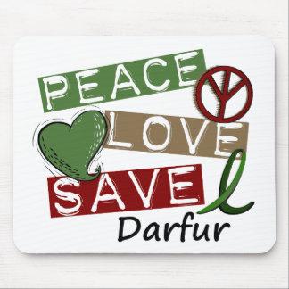 RESERVA Darfur del AMOR de la PAZ Alfombrillas De Ratón