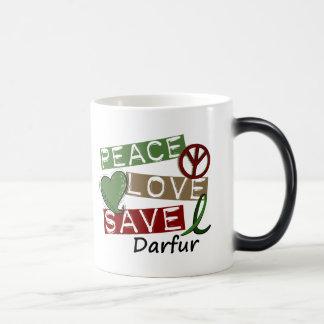 RESERVA Darfur del AMOR de la PAZ Taza Mágica