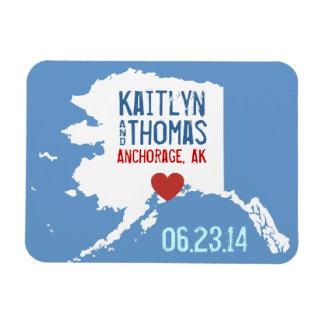Reserva de Alaska la fecha - ciudad adaptable Imanes De Vinilo