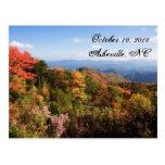 Reserva de Blue Ridge Mountains la fecha Tarjetas Postales