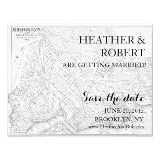 Reserva de Brooklyn la fecha - mapa del vintage Anuncio