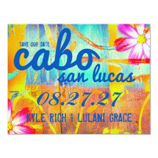 """Reserva de CABO SAN LUCAS el destino de la fecha Invitación 4.25"""" X 5.5"""""""