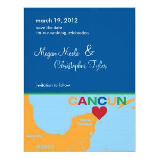Reserva de Cancun México la invitación de la fecha