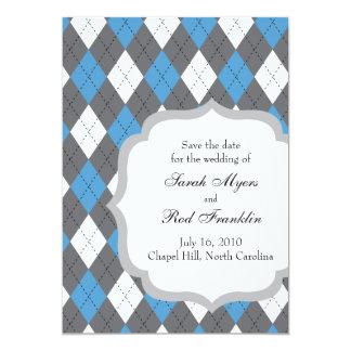 """Reserva de Chapel Hill NC la fecha Invitación 5"""" X 7"""""""