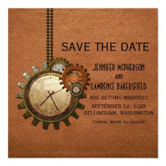 Reserva de cobre del reloj del vintage que la invitaciones personales
