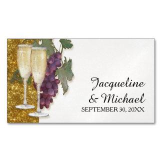 Reserva de cristal del brillo del oro de las uvas tarjetas de visita magnéticas (paquete de 25)