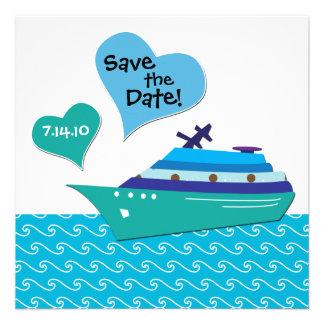 Reserva de Cruiseship la tarjeta de fecha del boda Invitacion Personalizada