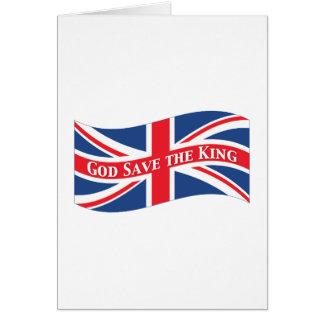 Reserva de dios el rey con Union Jack Tarjetón