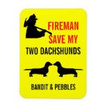 Reserva de encargo del bombero mi seguridad contra imán de vinilo