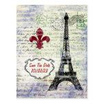 Reserva de Francia de la torre Eiffel la postal de