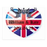 Reserva de Guillermo y de Kate 2011.04.29 la fecha Postal