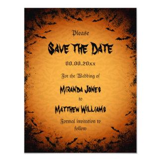 Reserva de Halloween la invitación de la fecha con