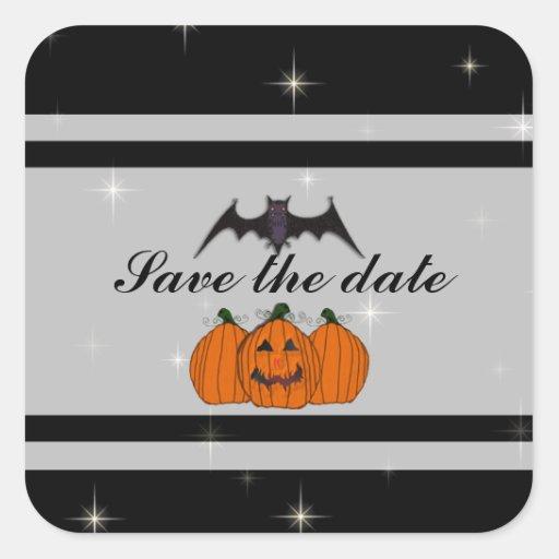 Reserva de Halloween los pegatinas de la fecha Pegatina Cuadrada