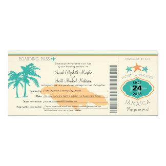 """Reserva de Jamaica el documento de embarque de la Invitación 4"""" X 9.25"""""""