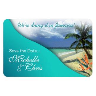 Reserva de Jamaica la fecha (aguas esmeralda) Imán Flexible