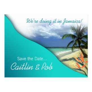 Reserva de Jamaica la fecha (aguas esmeralda) Postal