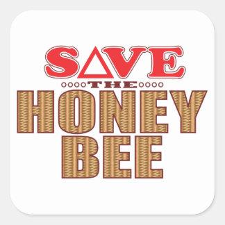 Reserva de la abeja de la miel pegatina cuadrada