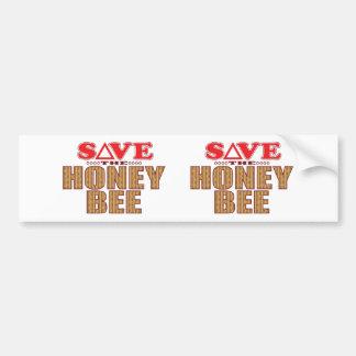 Reserva de la abeja de la miel pegatina para auto