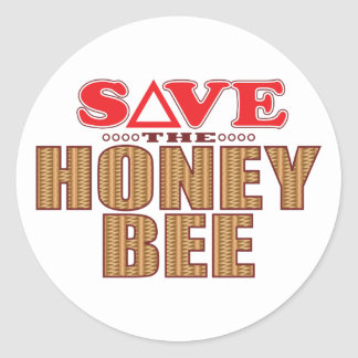 Reserva de la abeja de la miel pegatina redonda