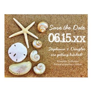 Reserva de la arena de los Seashells de la playa l Tarjeta Postal