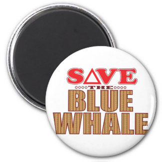 Reserva de la ballena azul imán redondo 5 cm