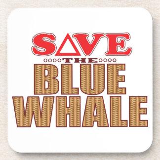 Reserva de la ballena azul posavasos de bebida
