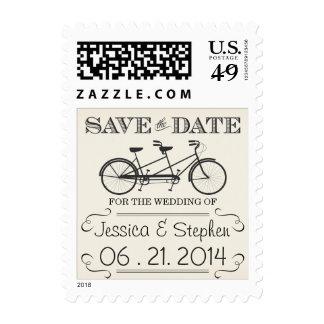 Reserva de la bicicleta del vintage el franqueo de