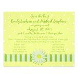 Reserva de la boda de la margarita la fecha invitaciones personalizada