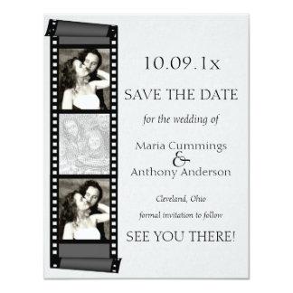 Reserva de la cabina de la foto la fecha invitación personalizada