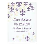 Reserva de la cascada de la flor de lis la fecha invitación 12,7 x 17,8 cm