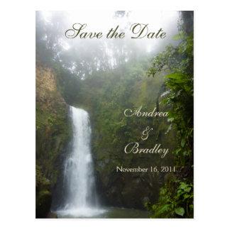 Reserva de la cascada la postal de la fecha