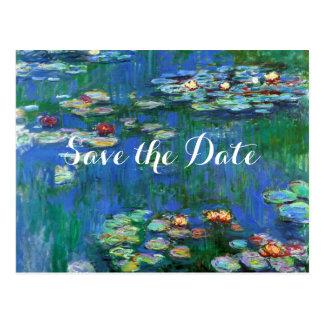 Reserva de la charca del lirio de agua de Monet la Tarjeta Postal