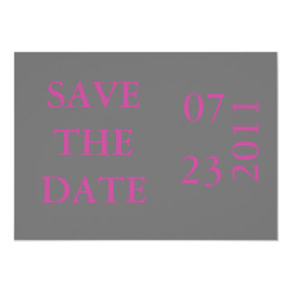 Reserva de la cinta la fecha Invitación-rosada
