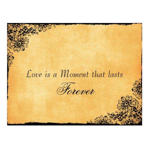 Reserva de la cita del amor del estilo del vintage tarjeta postal