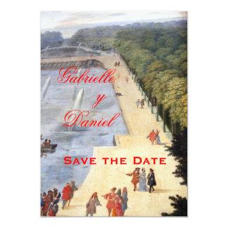 """Reserva de la colección de Versalles la fecha Invitación 5"""" X 7"""""""