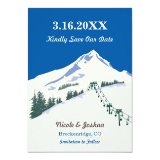 """Reserva de la escena del invierno del esquí la invitación 4.5"""" x 6.25"""""""