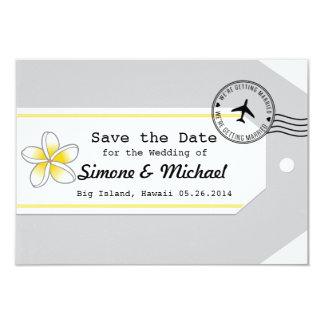 Reserva de la etiqueta del equipaje del tema del invitación personalizada