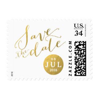 Reserva de la fecha el | del encanto de la hoja de sellos