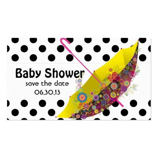 Reserva de la fiesta de bienvenida al bebé los plantillas de tarjeta de negocio